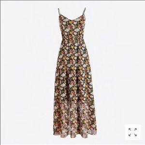 J. Crew Mercantile Chiffon Tiered Maxi Dress